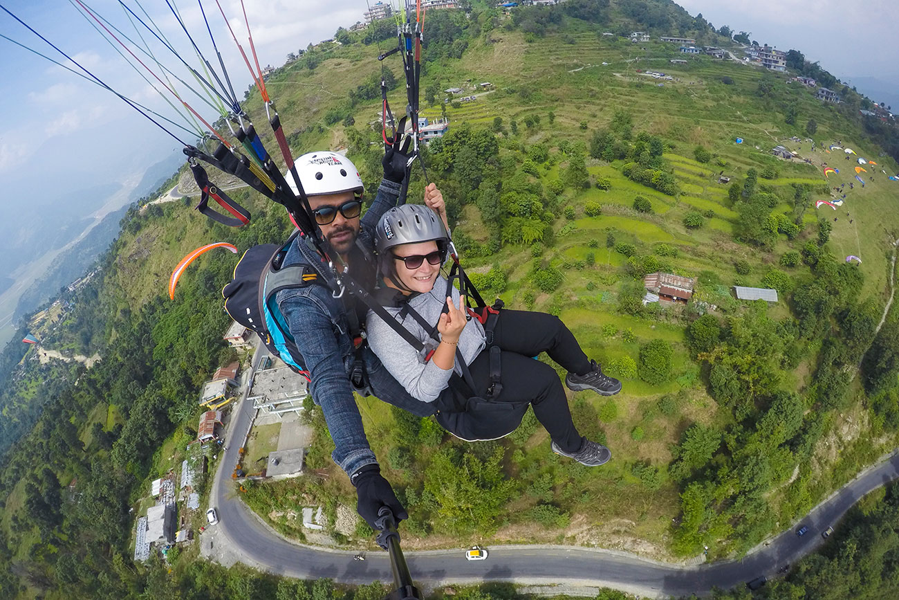 paragliding i pokhara