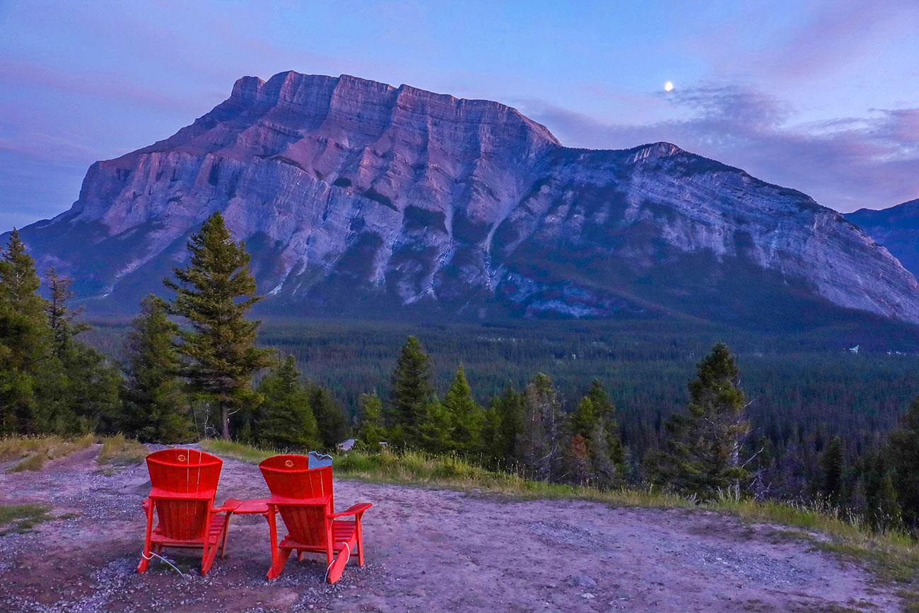 solnedgang i Banff