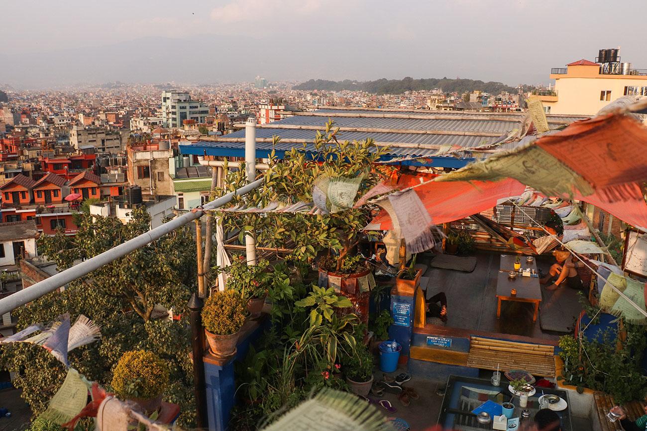 tagterrassecafe i Kathmandu