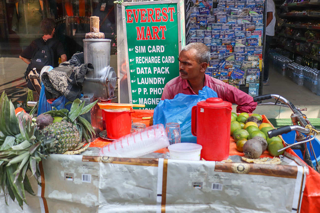 friskpresset juice i Kathmandu