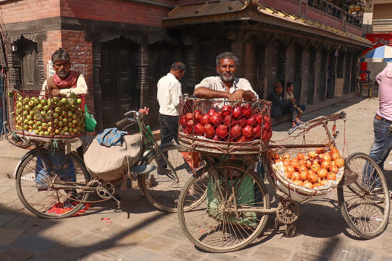 frugtmænd i Kathmandu