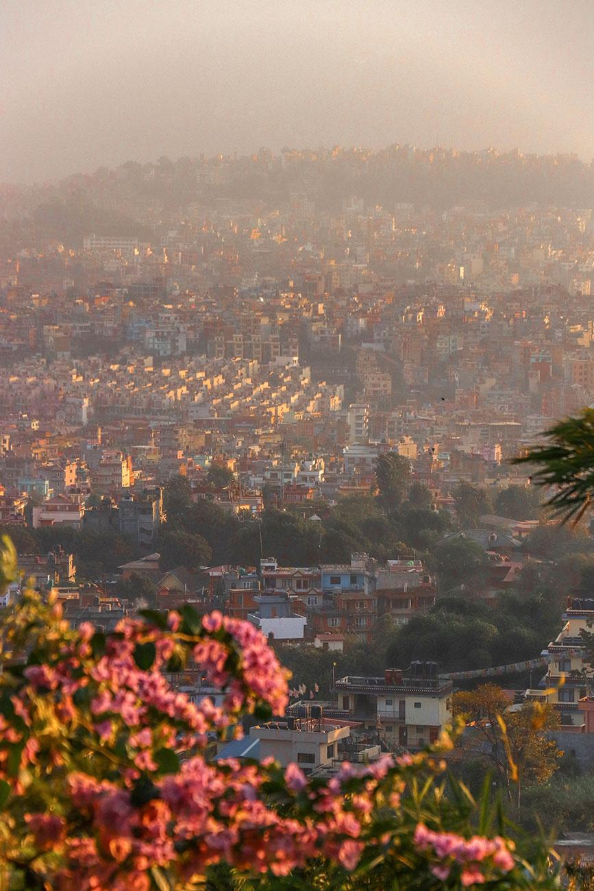 udsigten fra Swayambhunath Stupa, Kathmandu, Nepal
