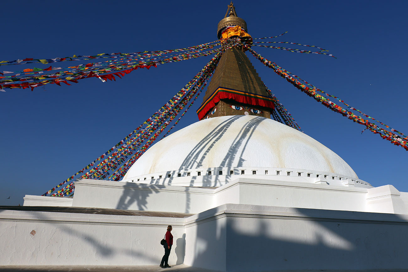 Boudhanath Stupaen, kathmandu, nepal