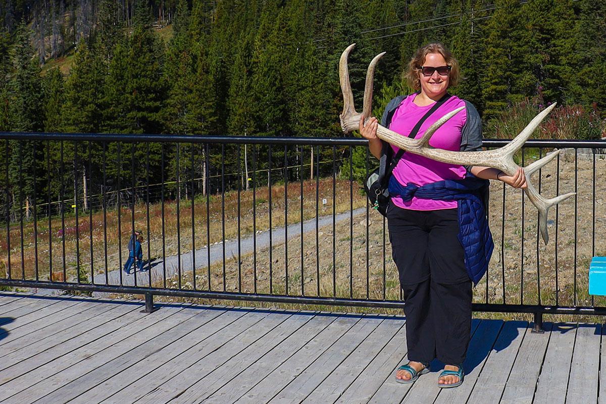 en rejseblogger ved Lake Louise Gondola