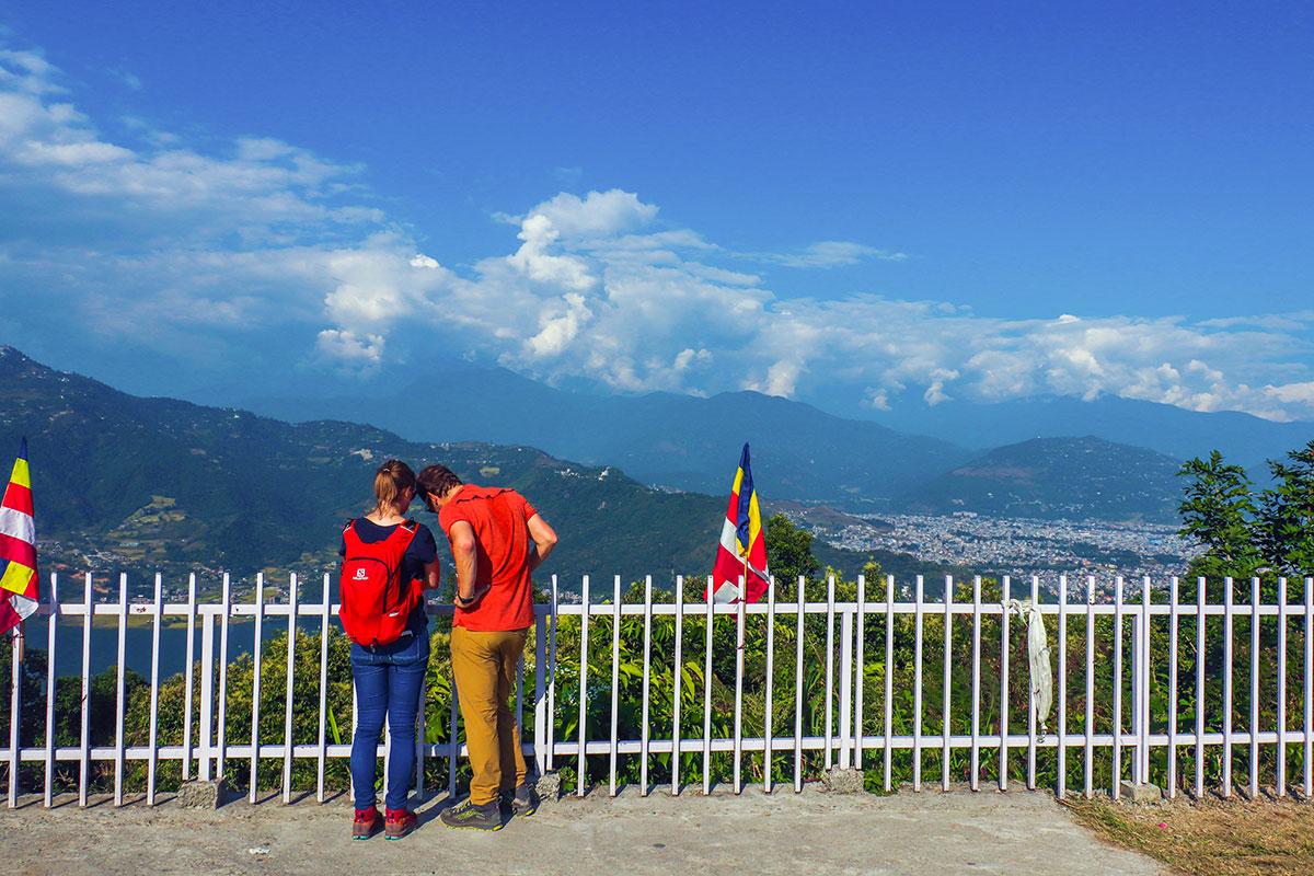 udsigten fra World Peace Pagoda, Pokhara