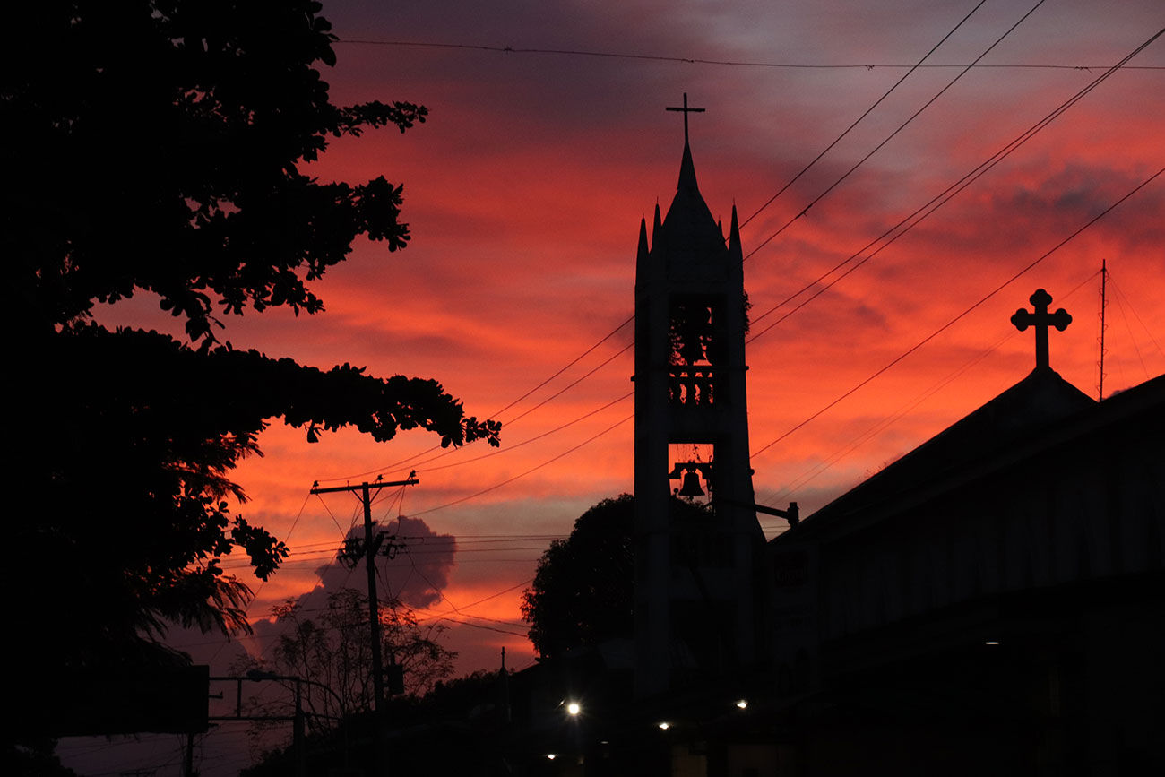 solnedgang på Coron, Filippinerne