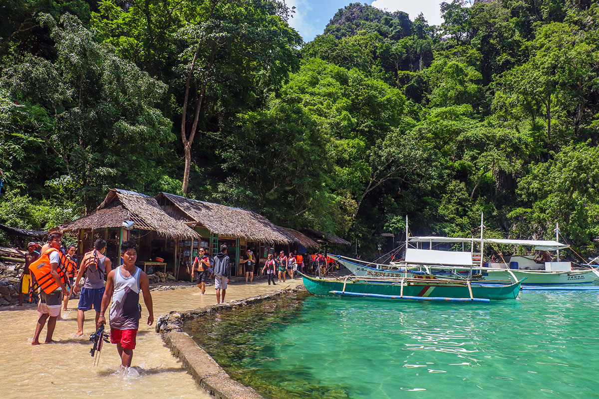 Indgangen til Kayangan Lake