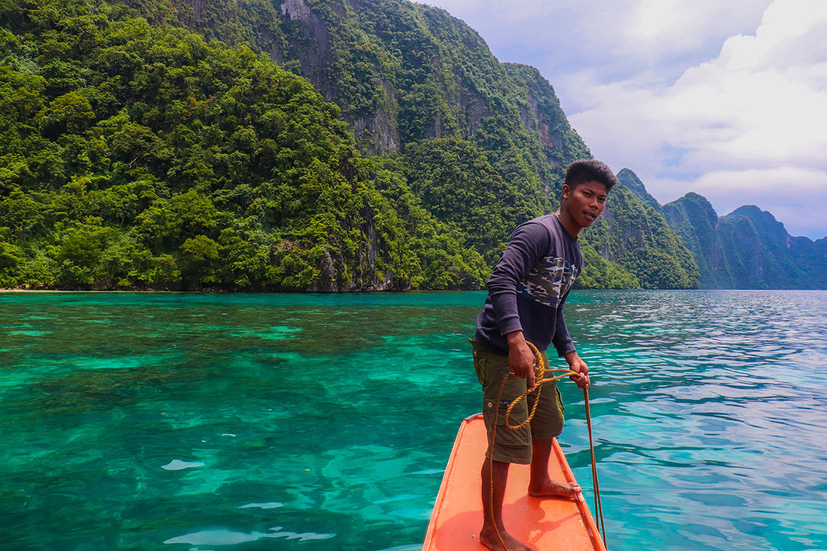 snorkelsted ved coron