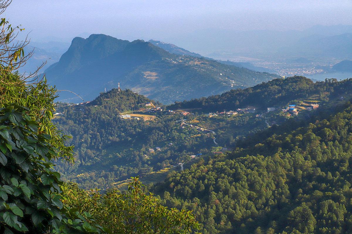 en bjerglandsby i nepal