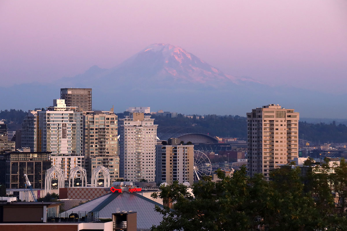 mount rainer udenfor seattle