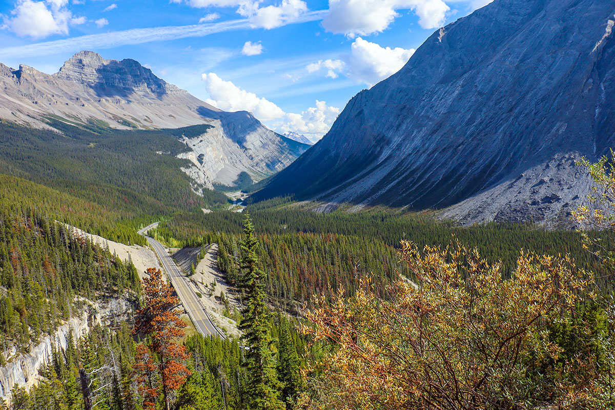 icefield parkway i canada