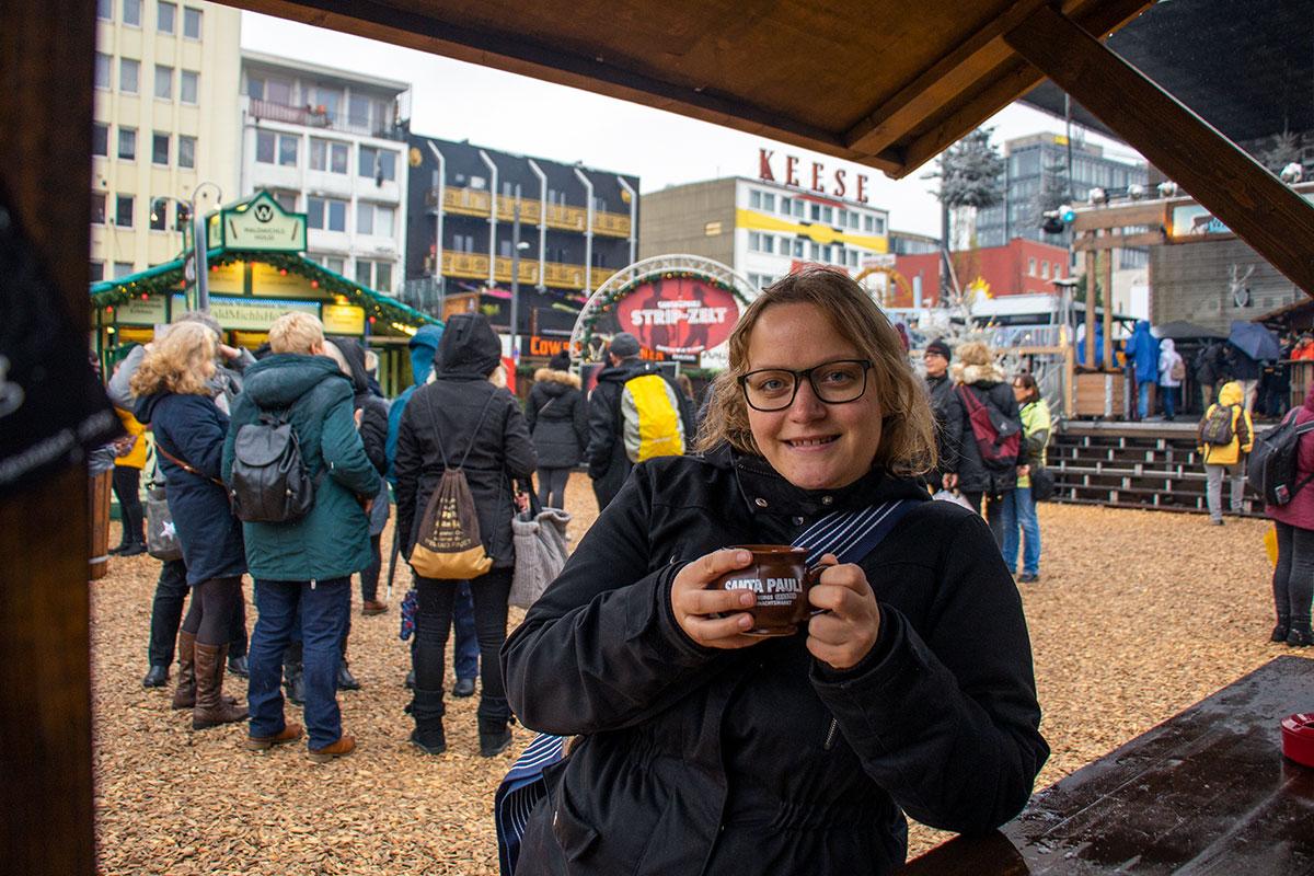 glüwein ved et tysk julemarked