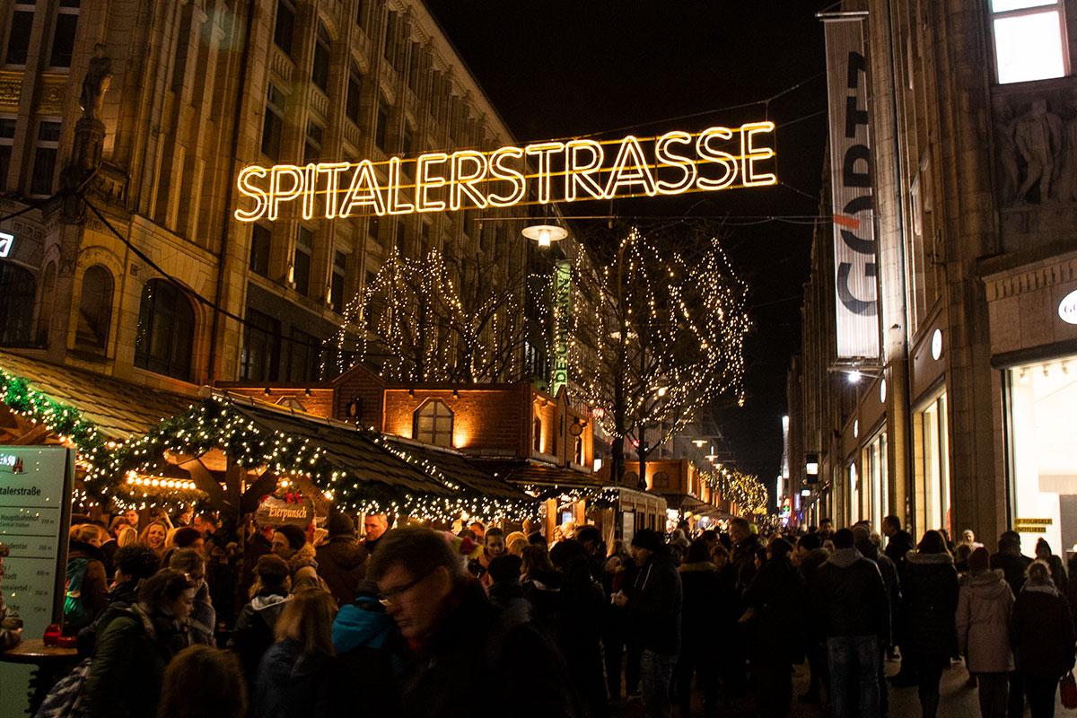 Spitalerstraße julemarked