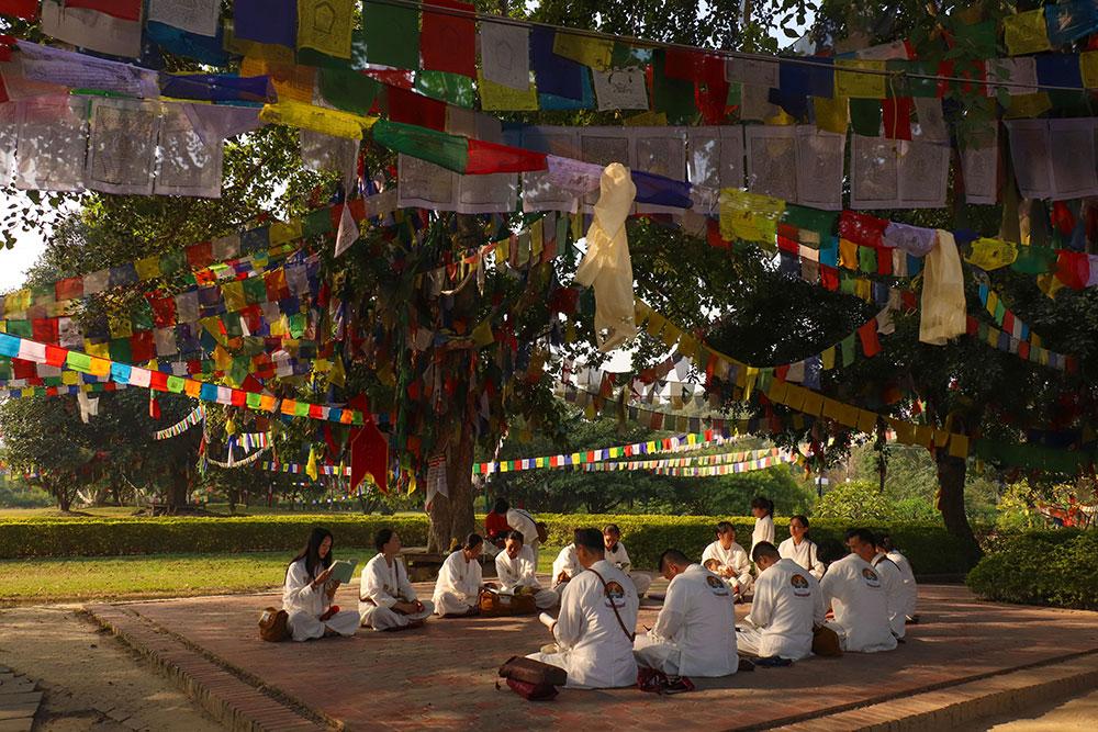 bedende ved buddhas fødested