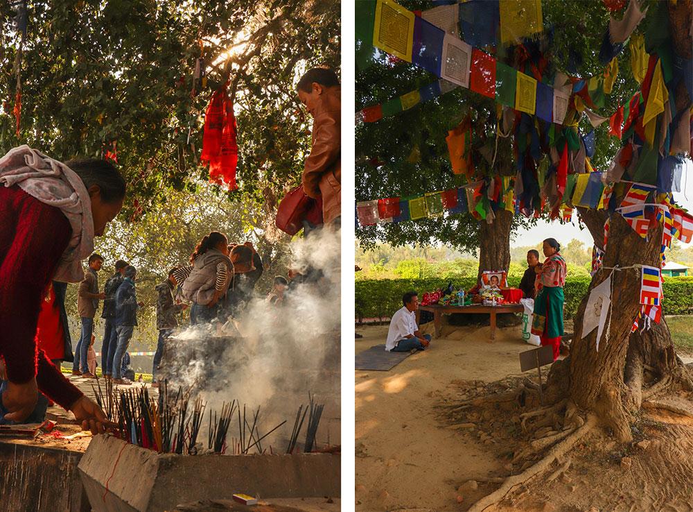 røgelse ved buddhas fødested