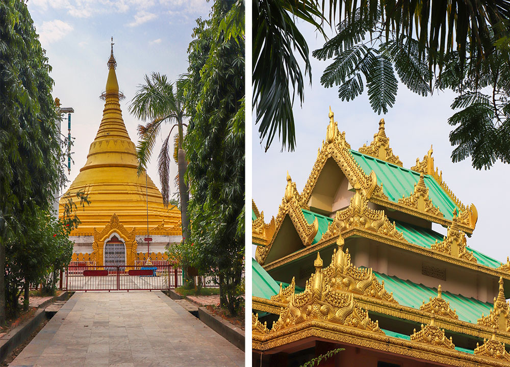 Myanmars kloster i Lumbini