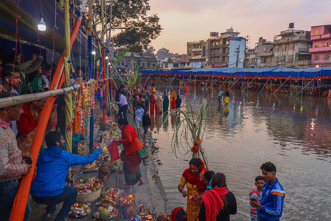 flod i Kathmandu