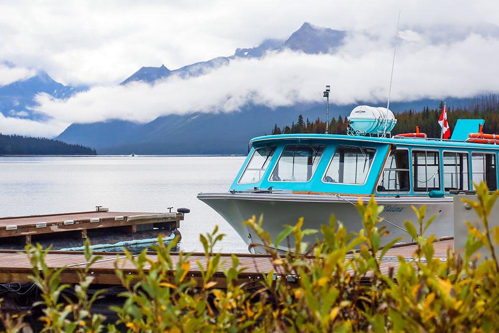 bådtur i jasper national park
