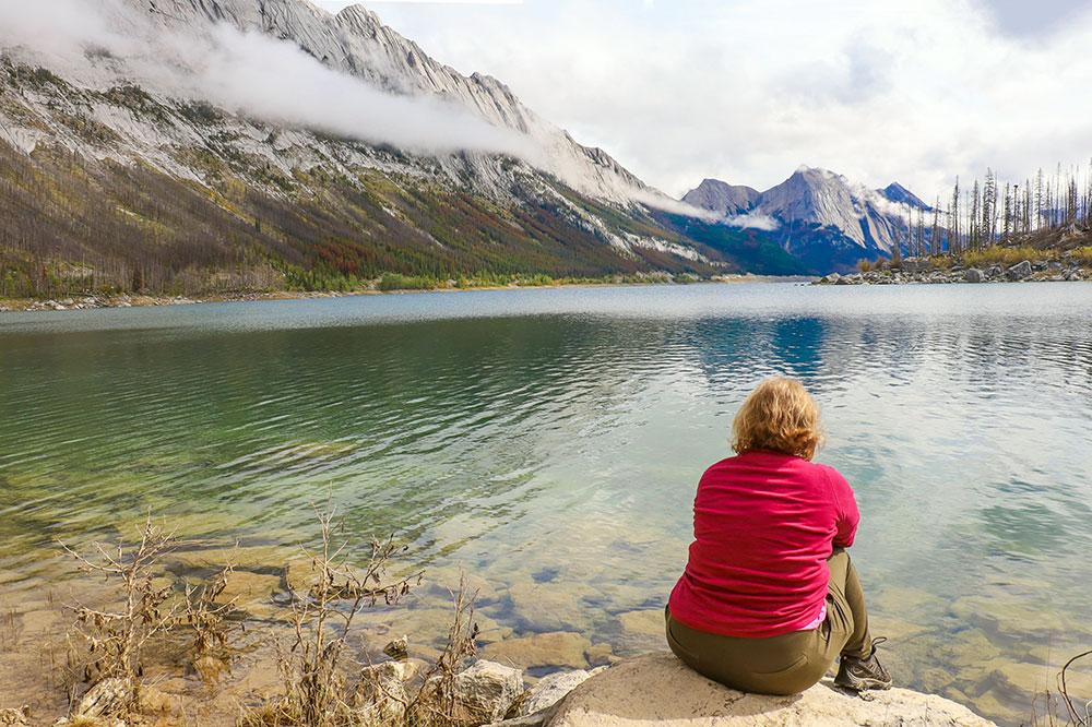 medicine lake, jasper nationalpark, canada