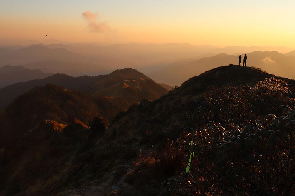 solnedgang i Nepal