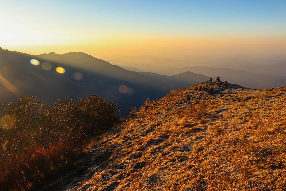 solopgang fra Mardi Himal