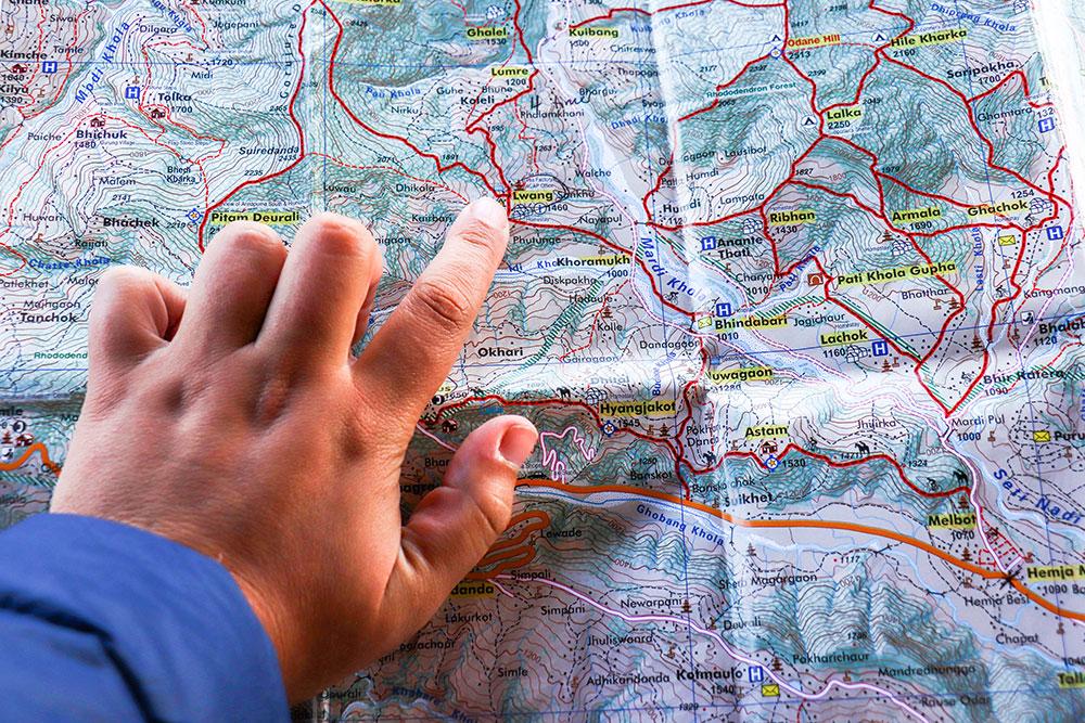 planlægning af vandretur