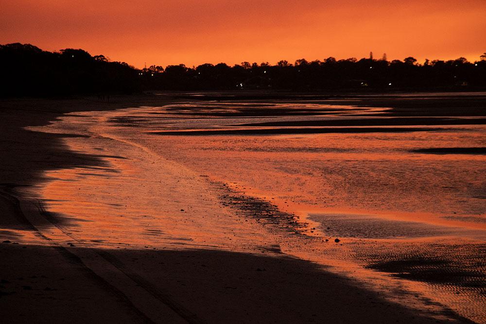 solnedgang i Hervey Bay