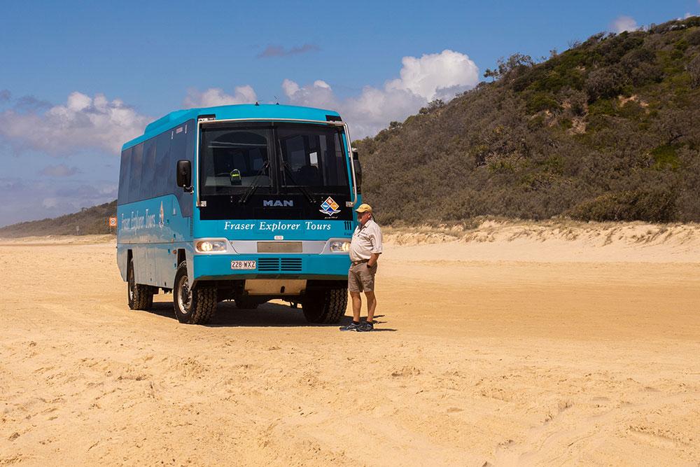 bustur på Fraser Island
